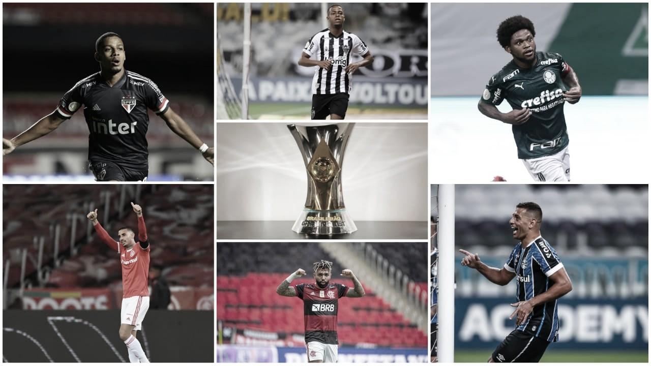 Seis times seguem na briga pelo título brasileiro. (Arte: VAVEL Brasil)