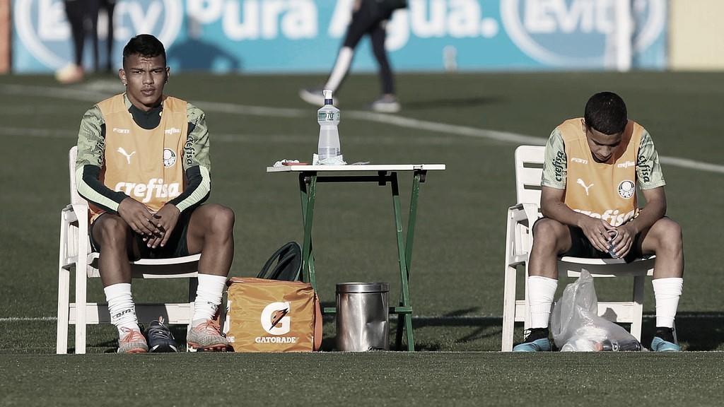 Palmeiras treina em dois gramados de olho na volta do Paulistão