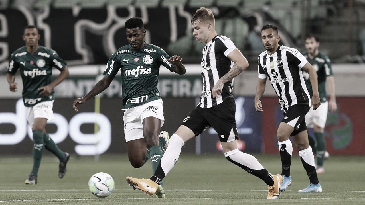 Pelas quartas da Copa do Brasil, Palmeiras recebe Ceará no Allianz Parque