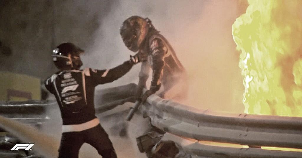 Piloto da Haas, Grosjean se salva por pouco de explosão em seu carro no GP do Bahrein