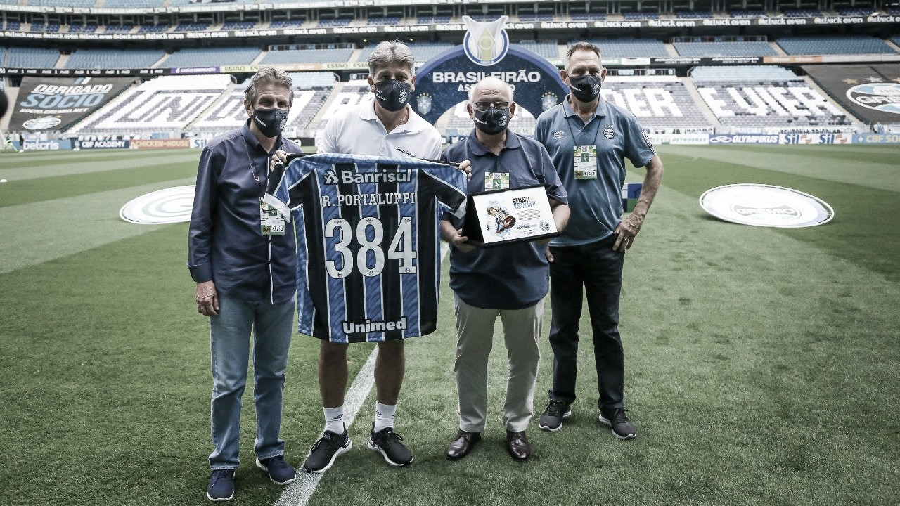 """Renato exalta bom momento do Grêmio: """"Nosso objetivo é ganhar, ganhar e ganhar"""""""