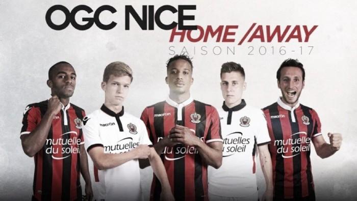 OGC Nice apresenta seus novos uniformes para a temporada 2016/17