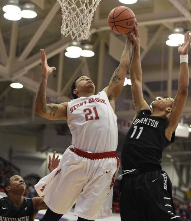 Stony Brook Tested By Binghamton, Prevails By 5 In America East Quarters