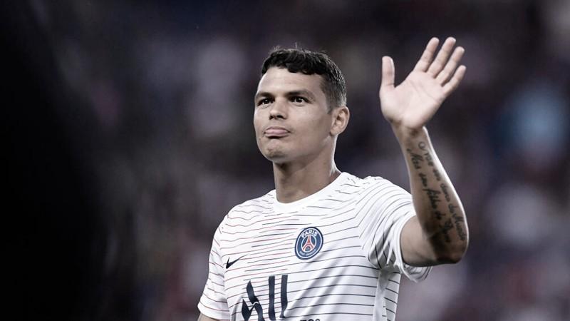Jornal francês crava que PSG não vai renovar com Thiago Silva após fim da temporada
