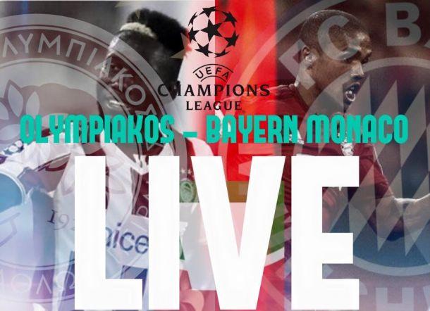 Live Olympiakos - Bayern Monaco, risultato partita Champions League 2015/16  (0-3)