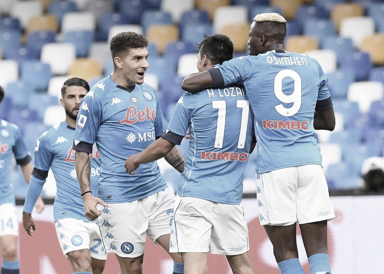 Napoli marca cinco vezes no segundo tempo, goleia Genoa e assume liderança da Serie A