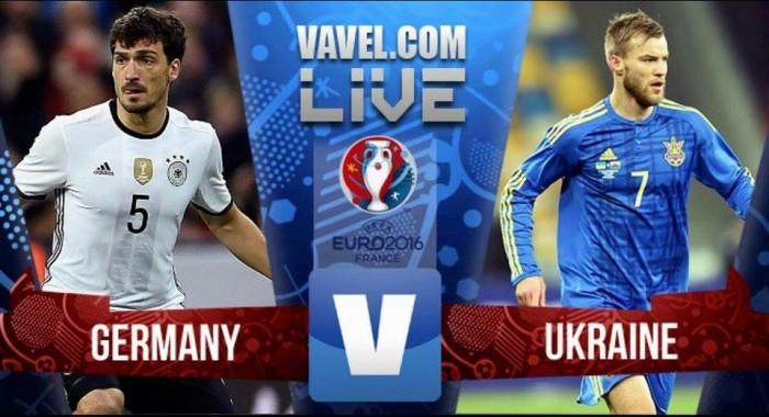 Alemania gana a Ucrania en su debut en la Eurocopa de Francia