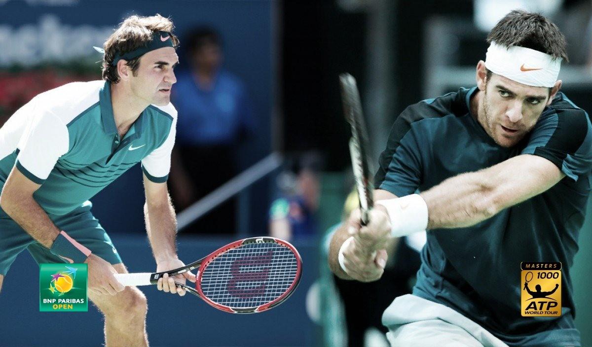 Del Potro pudo con Federer y se consagró campeón del Masters 1000 de Indian Wells 2018