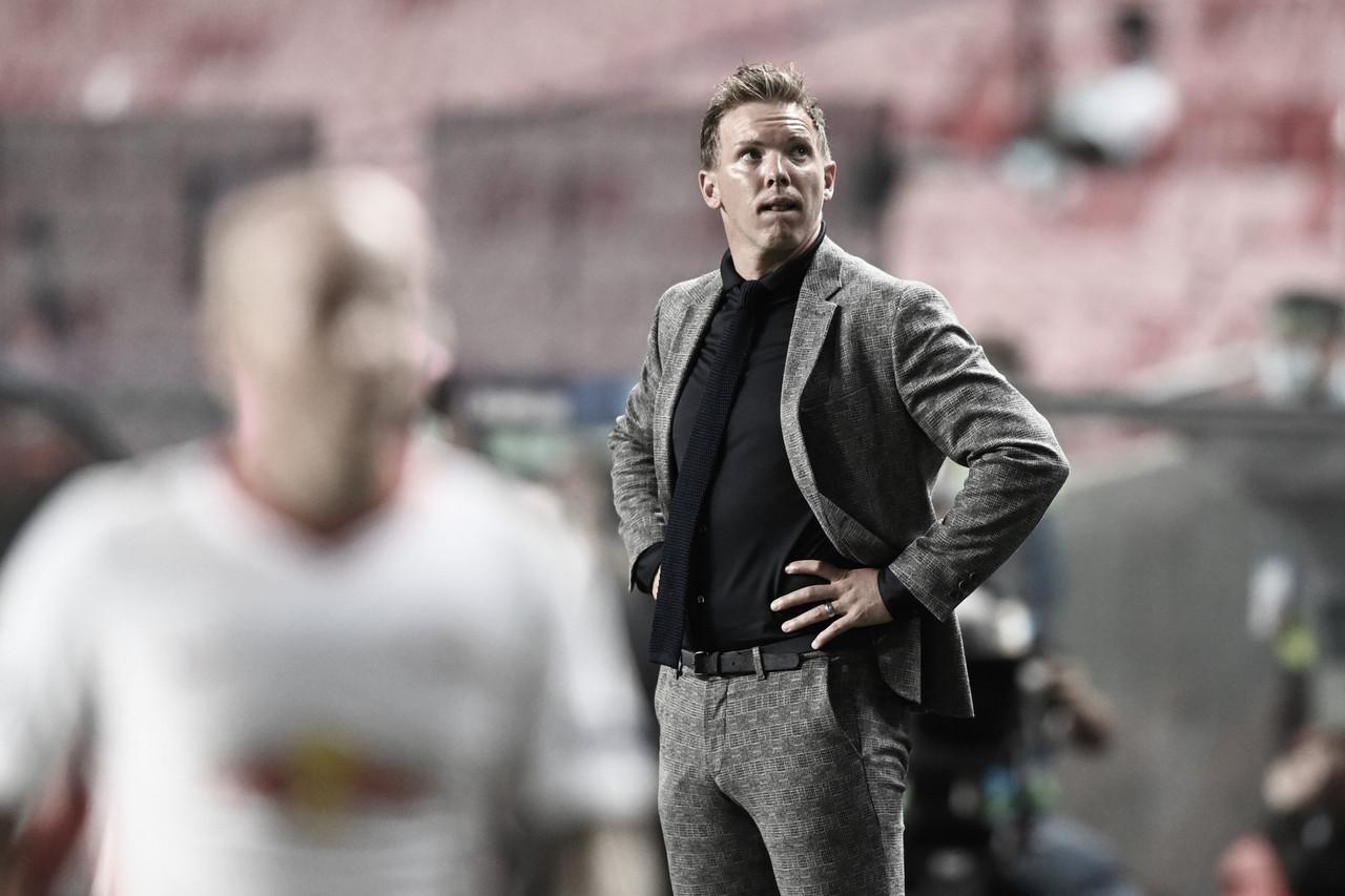 """Julian Nagelsmann elogia PSG após eliminação do Leipzig na Champions: """"Tem muita qualidade"""""""