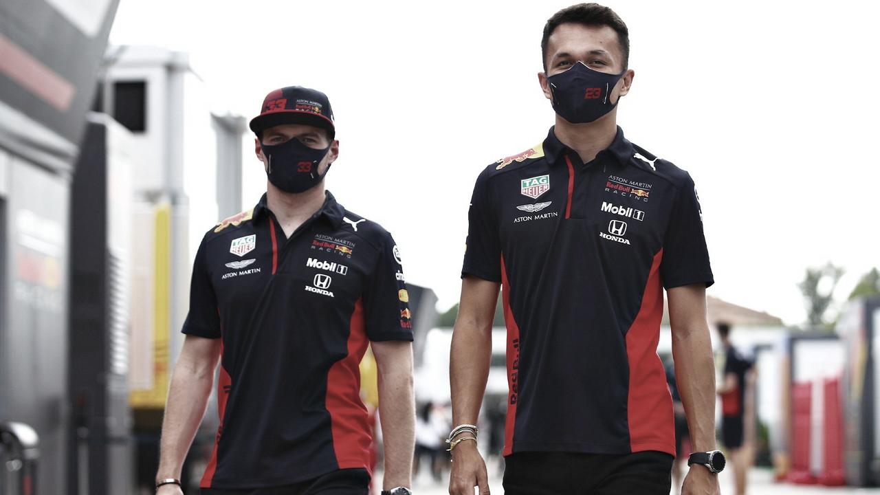 O abismo de resultados entre Verstappen e Albon na Red Bull