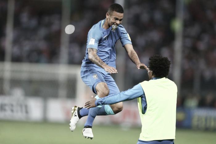 Jesus e Renato Augusto marcam, Brasil bate Peru e dispara na liderança das Eliminatórias