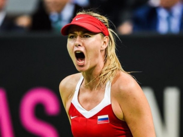 Fed Cup Final: Maria Sharapova Victory Draws Russia Even with Czech Republic 1-1