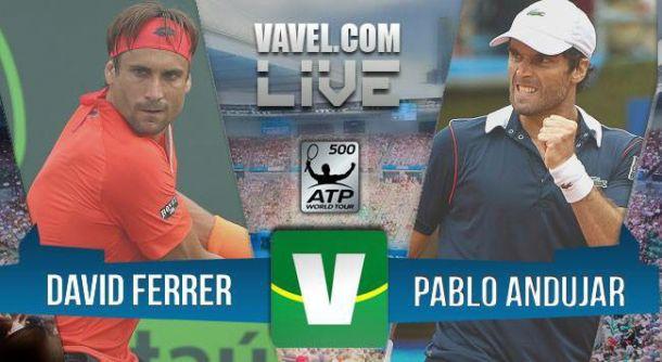 David Ferrer x Pablo Andujar pela semifinal do ATP 500 Barcelona (0-1)