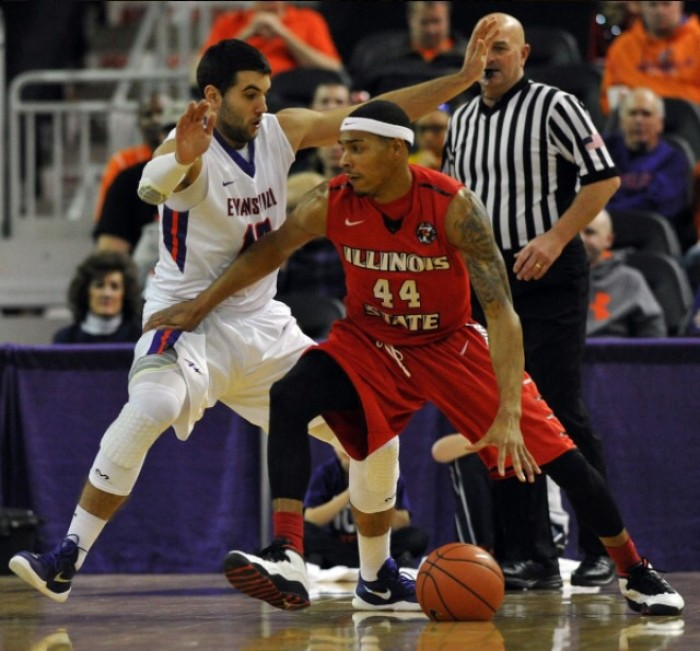Illinois State Redbirds Seize 2nd Place In Missouri Valley With Road Triumph Over Evansville Purple Aces