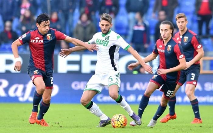 Sassuolo Genoa 0 - 1, le pagelle | Sansone le prova tutte, Magnanelli sottotono