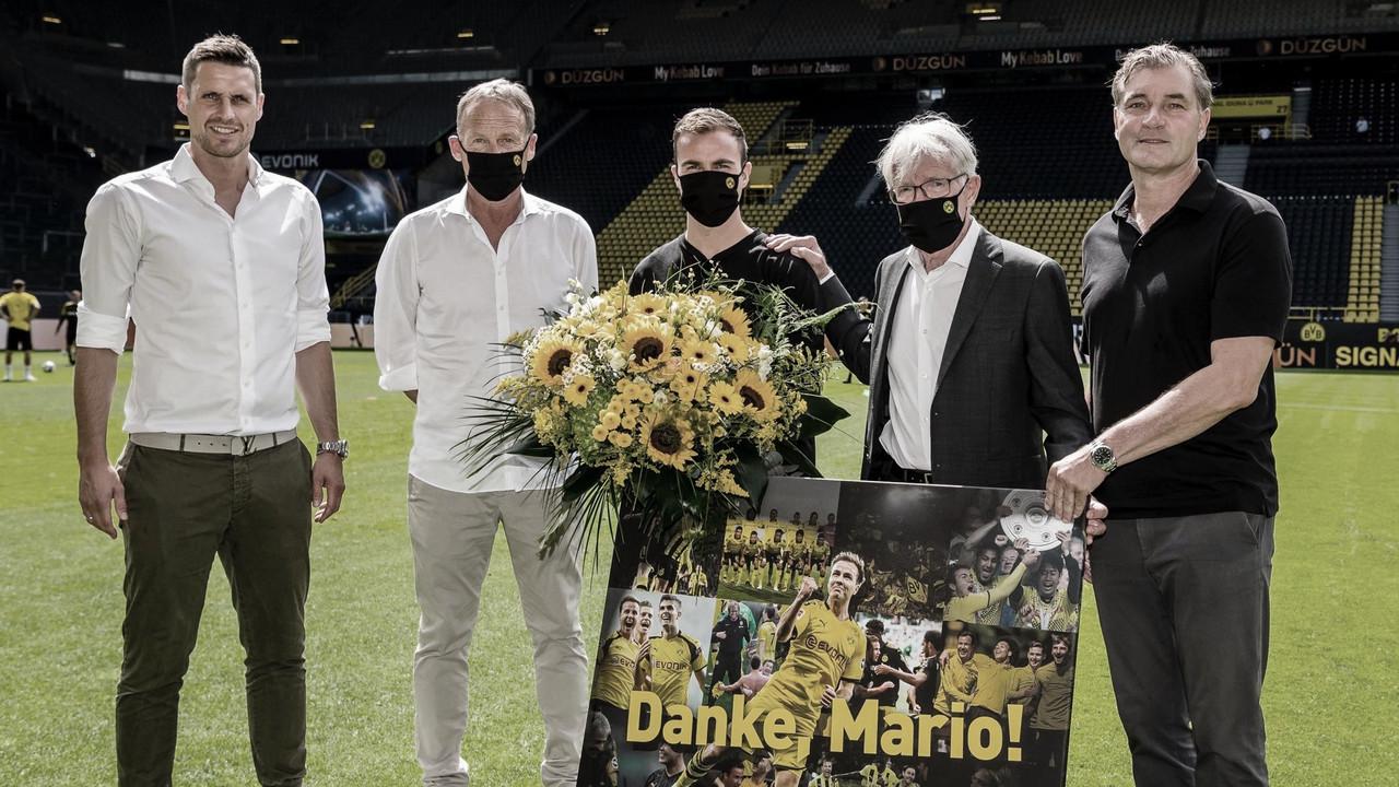 Atacante Mario Götze se despede do Borussia Dortmund