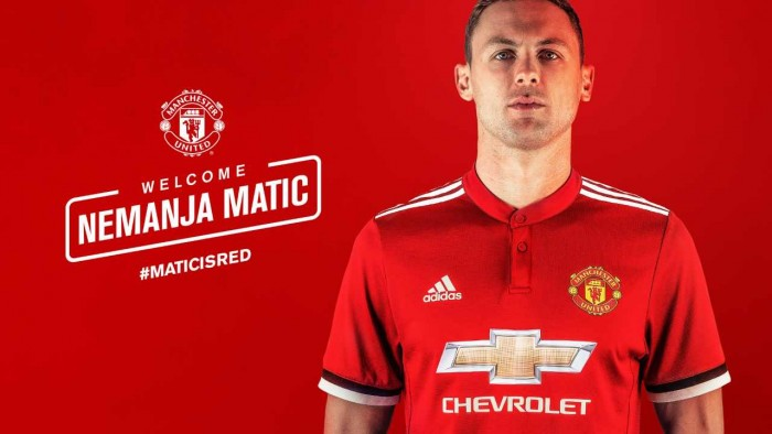 Man United confirm £40m signing of midfielder Nemanja Matić