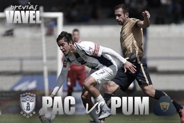 Previa Pachuca - Pumas: duelo de alturas