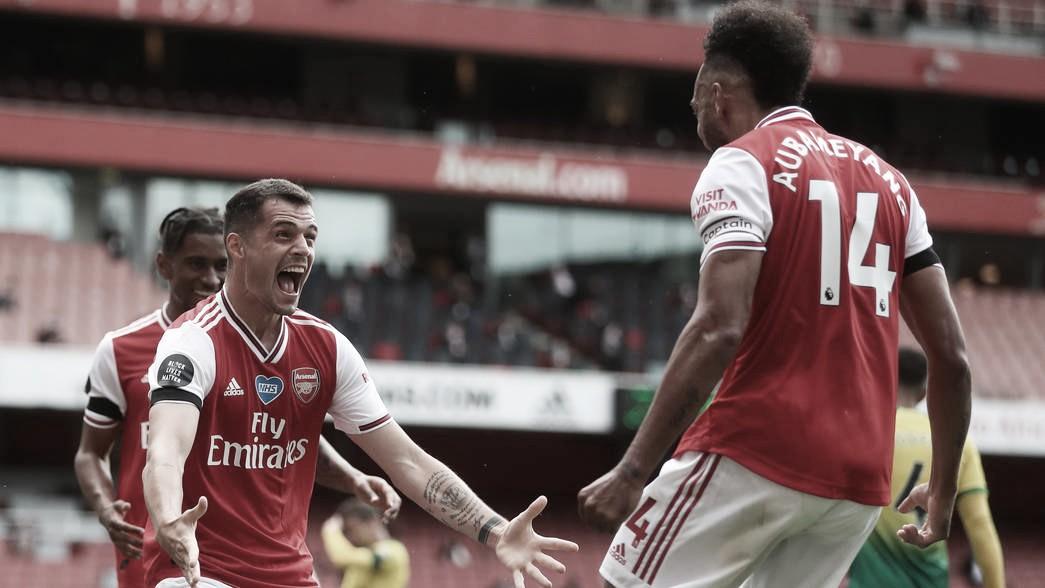 """Técnico do Arsenal, Arteta comenta recorde de Aubameyang: """"Espero que possamos mantê-lo por um longo período"""""""