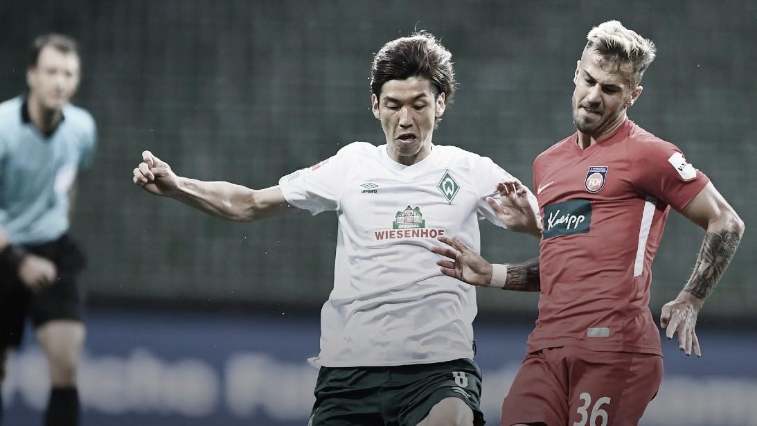 Muito nervosismo e pouco futebol: Werder empata em casa com Heidenheim no Relegation