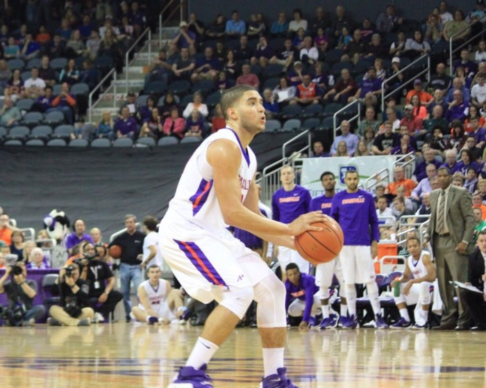 Doing It All: Guard Duo Of D.J. Balentine & Jaylon Brown Out-Performs Southern Illinois' Anthony Beane In Evansville Purple Aces Victory