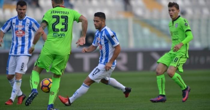 Serie A - Il Pescara riprende il Cagliari nel finale: 1-1 all'Adriatico