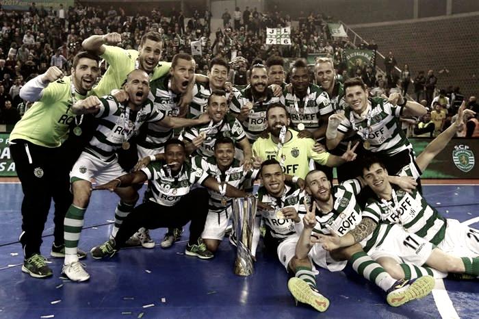 Sporting triunfa diante Fundão e conquista Taça da Liga de Futsal