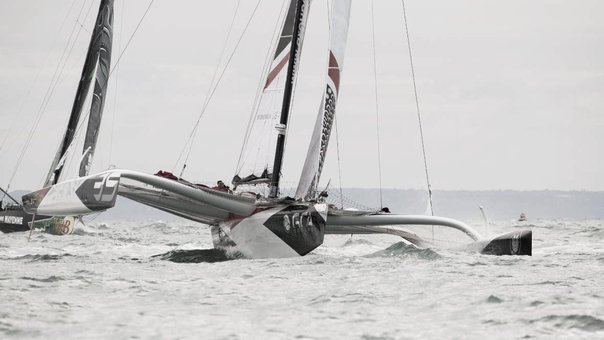 Barcos mais rápidos completam 25% da Transat Jacques Vabre