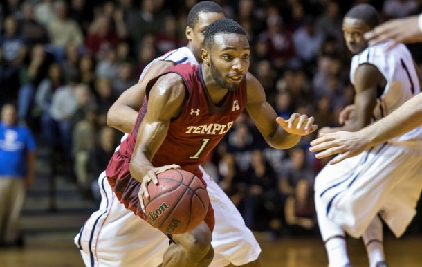 Temple Outlasts Penn At The Palestra, 77-73, In Big 5 Showdown