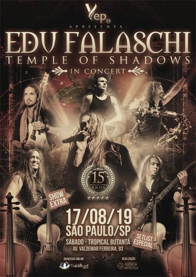 Edu Falaschi faz show de encerramento da turnêTemple of Shadows com convidados