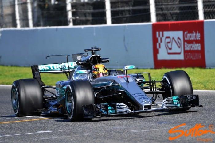 Barcelona testing day one: Hamilton fastest from Vettel