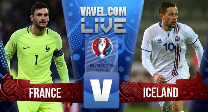 França goleia a Islândia e alcança as meias-finais