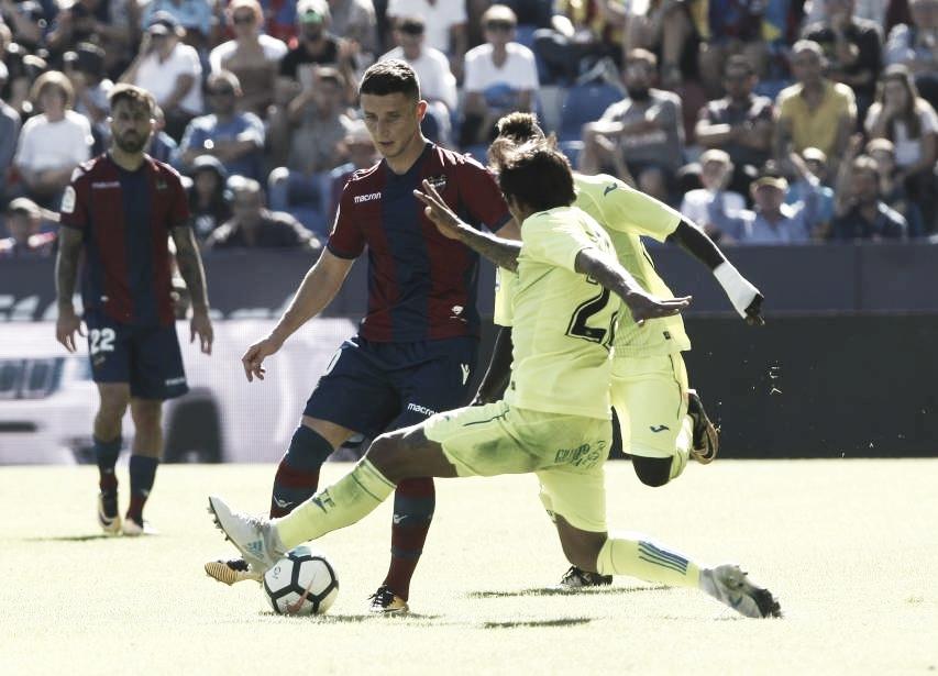 Resumen Getafe CF vs Levante UD y en LaLiga Santander 2018 (0-1)