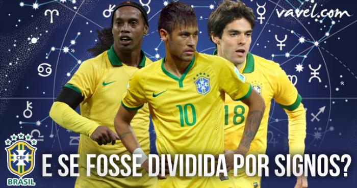 E se a seleção brasileira fosse dividida por signos?