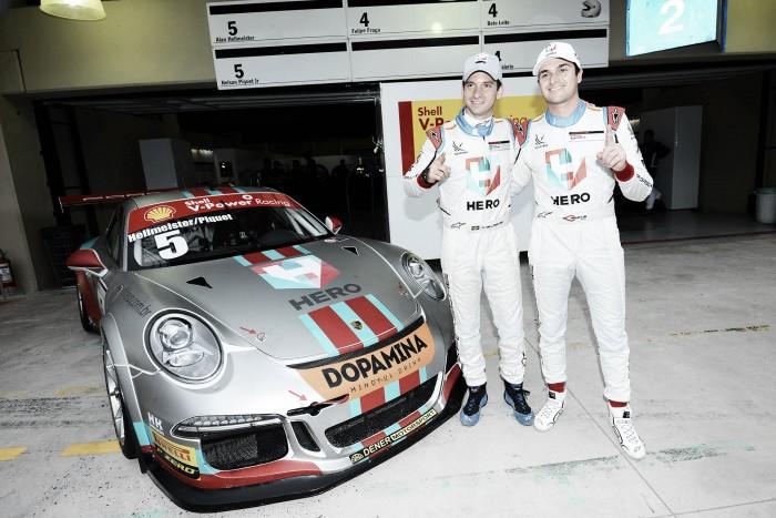 Nelsinho Piquet e Alan Hellmeister marcam pole para os 500 km da Porsche GT3 Cup em Interlagos