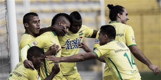 Atlético Bucaramanga pegó primero y derrotó a Fortaleza en el primer partido de la final del torneo Águila