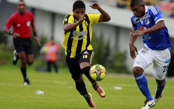 Resultado Alianza Petrolera - Millonarios en la Liga 2014 (0-1)