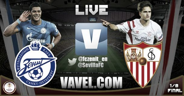 Resultado Zenit vs Sevilla en Europa League 2015 (2-2)