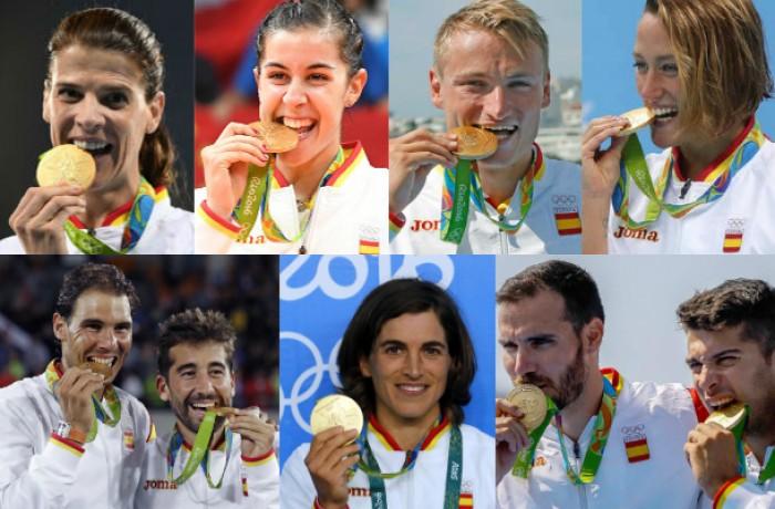 El medallero olímpico de Río 2016, por Comunidades Autónomas