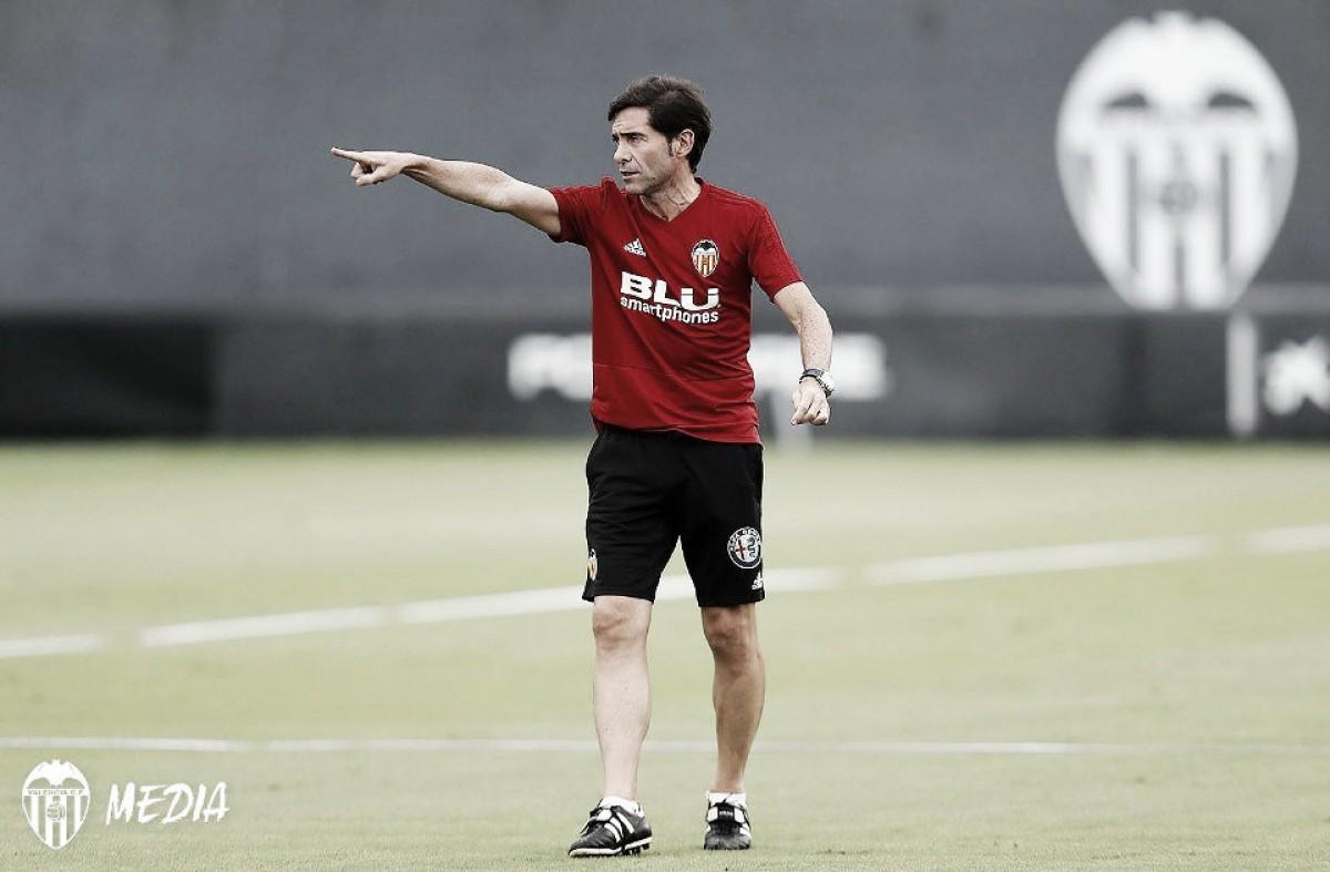 Marcelino: ''Creemos que nuestros jugadores tienen capacidad, ilusión y convencimiento para ganar al Atlético de Madrid''