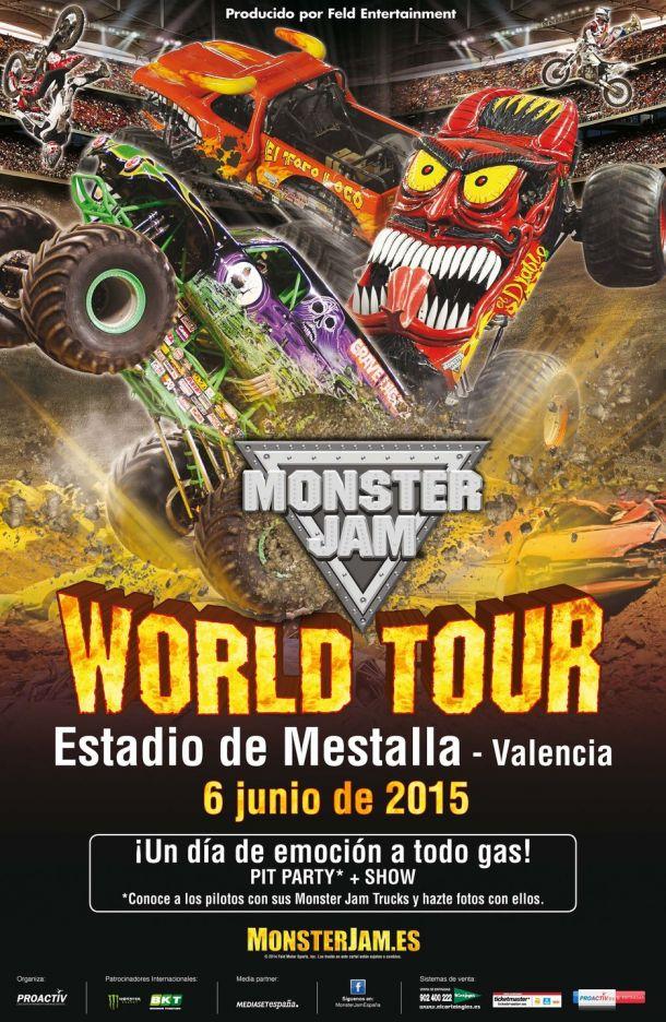 El Monster Jam World Tour llega a Mestalla