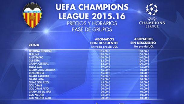 Salen los precios de las entradas para ver la Champions