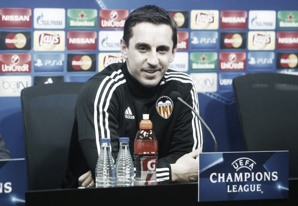 Valencia - Lyon: Gary Neville takes charge of hosts in crucial Champions League clash