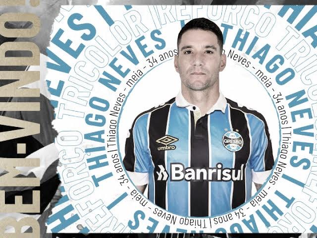 Thiago Neves é oficializado como reforço do Grêmio