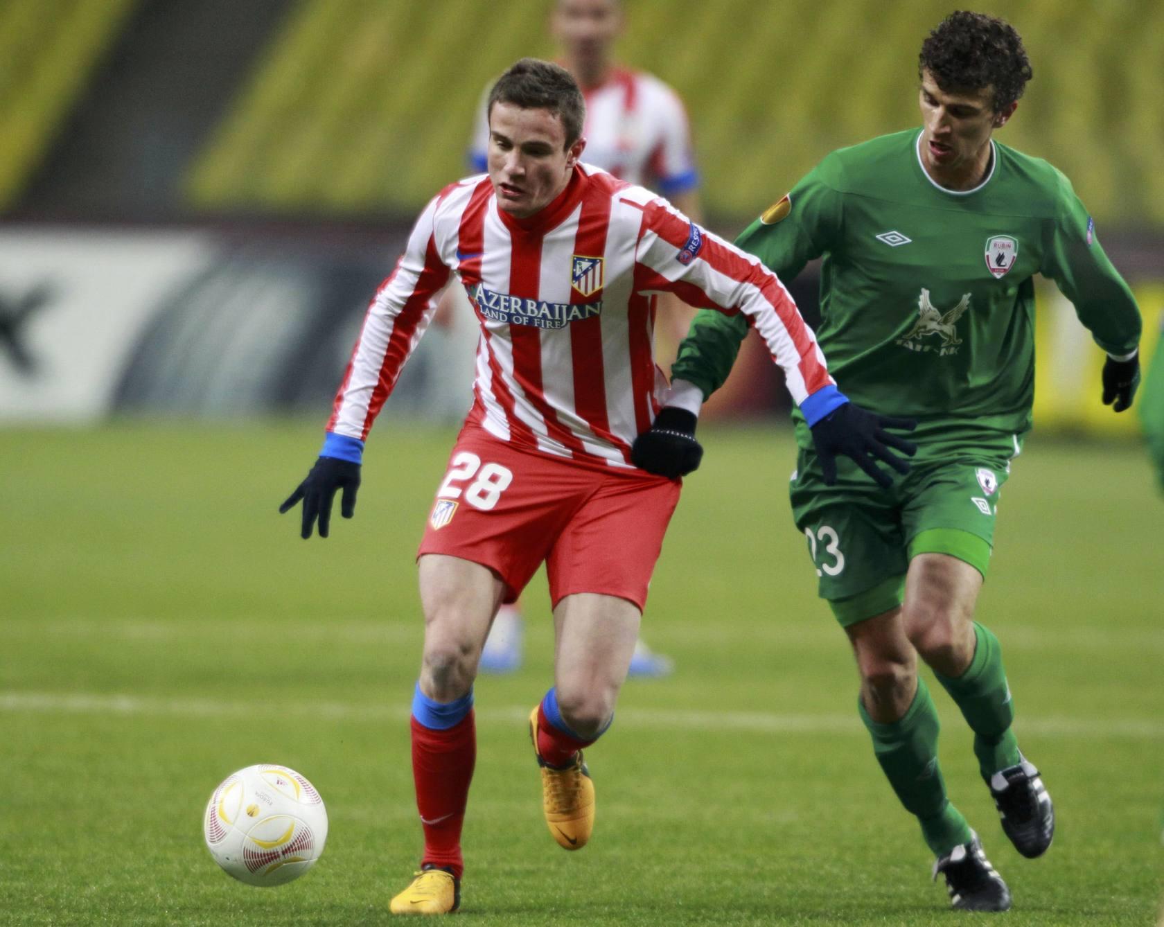 Saúl entrenó con el primer equipo tras el empate en Getafe