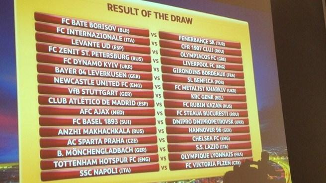 El Liverpool se enfrentará al Zenit en 1/16 de la Europa League