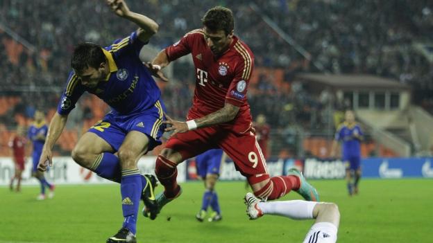Resultado Bate Borisov 3-1 Bayern Múnich en Champions League 2012