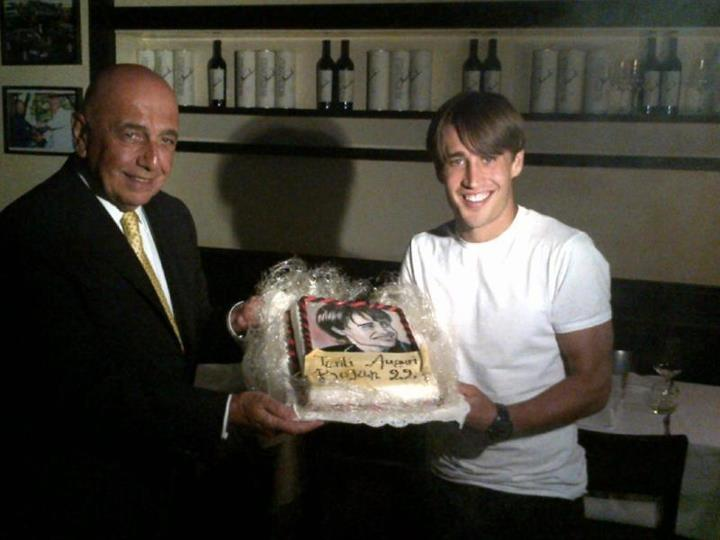 Bojan celebró su cumpleaños como nuevo jugador del Milan