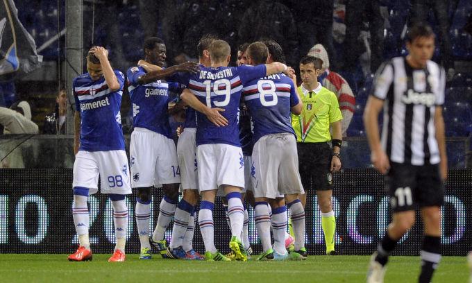 Na despedida da Serie A, Sampdoria vence a campeã Juventus