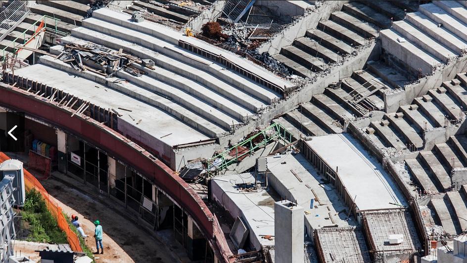 Obras da Arena Palestra só serão retomadas na quarta-feira